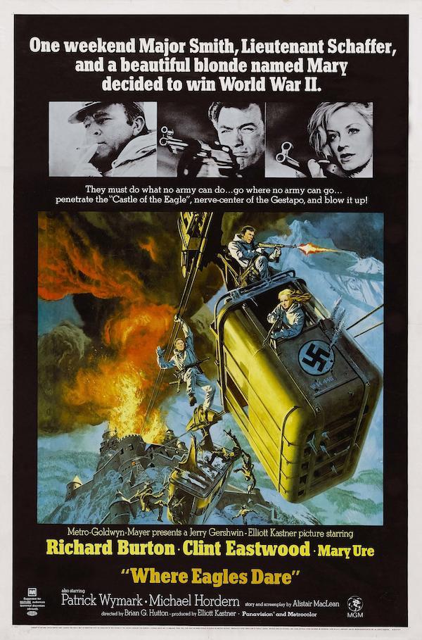 Where Eagles Dare 1968 Movie Posters